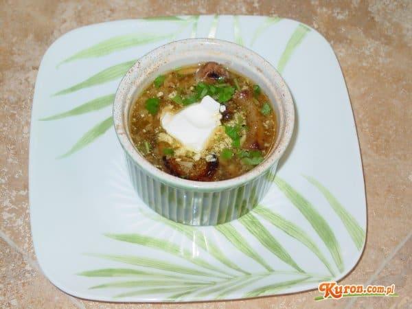 Zupa czosnkowa z koniakiem
