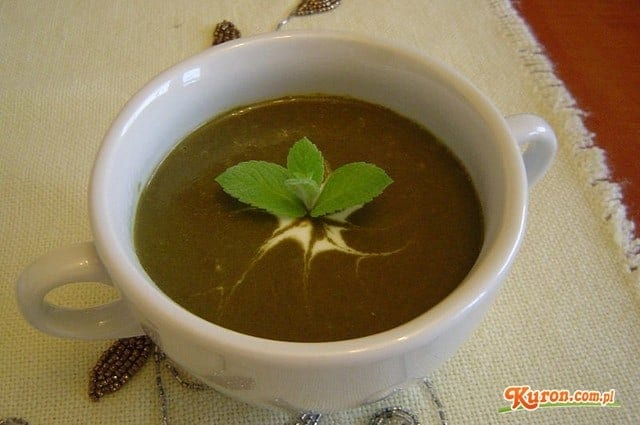Zupa szpinakowa na soku owocowym