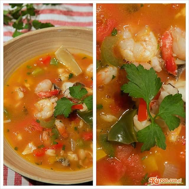 Zupa z pomuchla (dorsza) z krewetkami