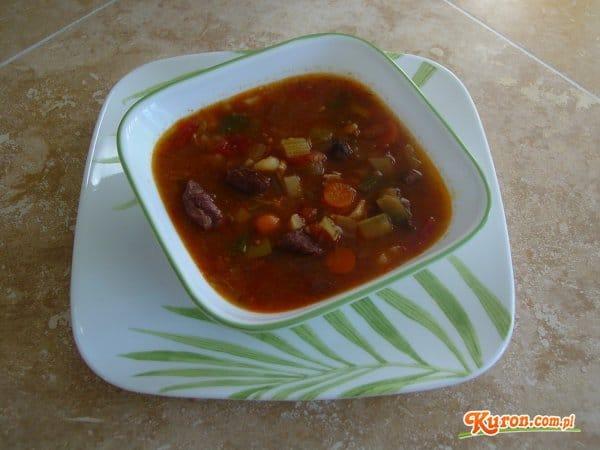 Zupa gulaszowo - warzywna