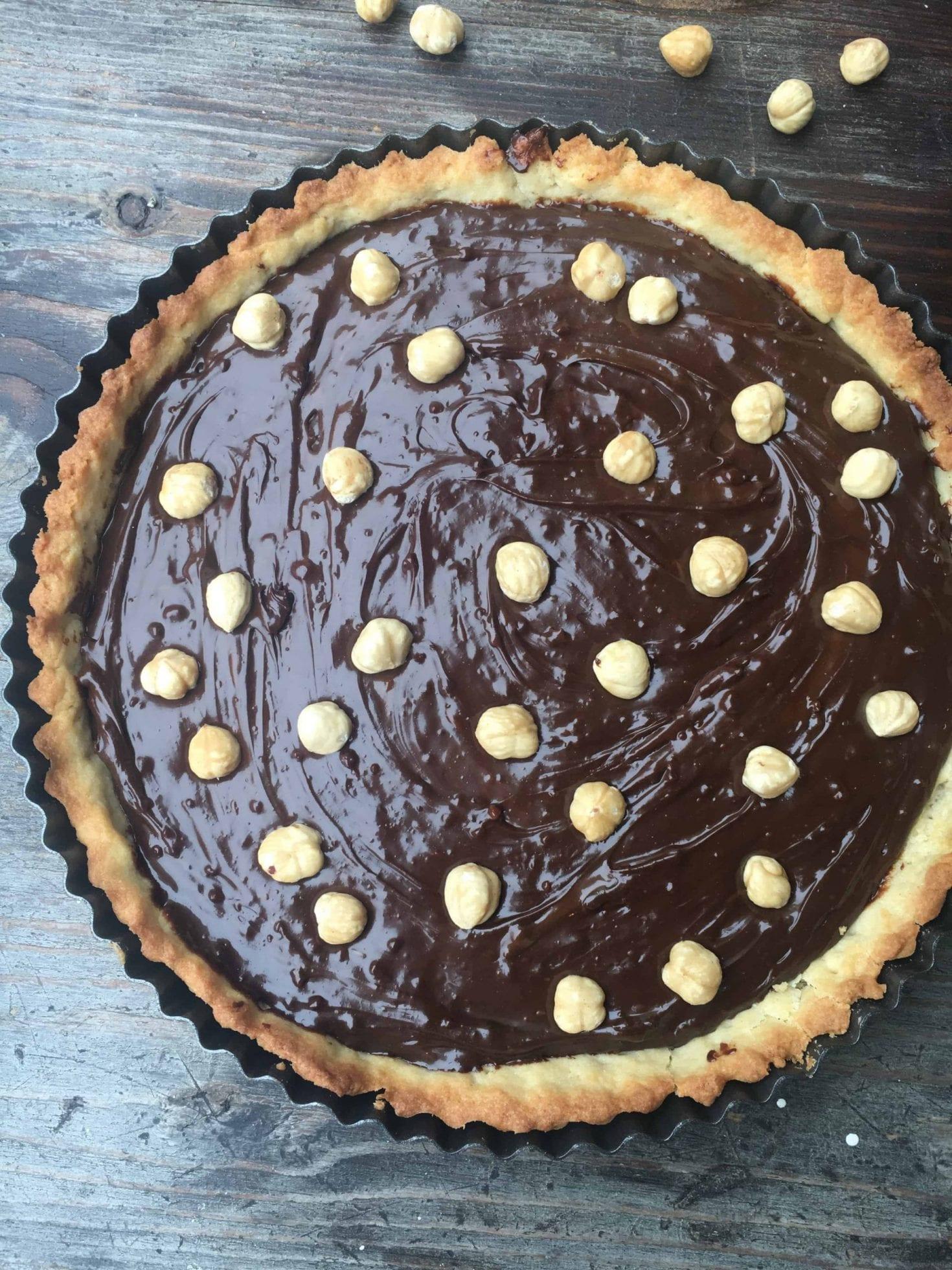 Tarta czekoladowa z orzechami laskowymi