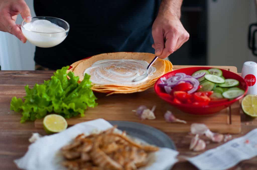 Tortilla zkurczakiem