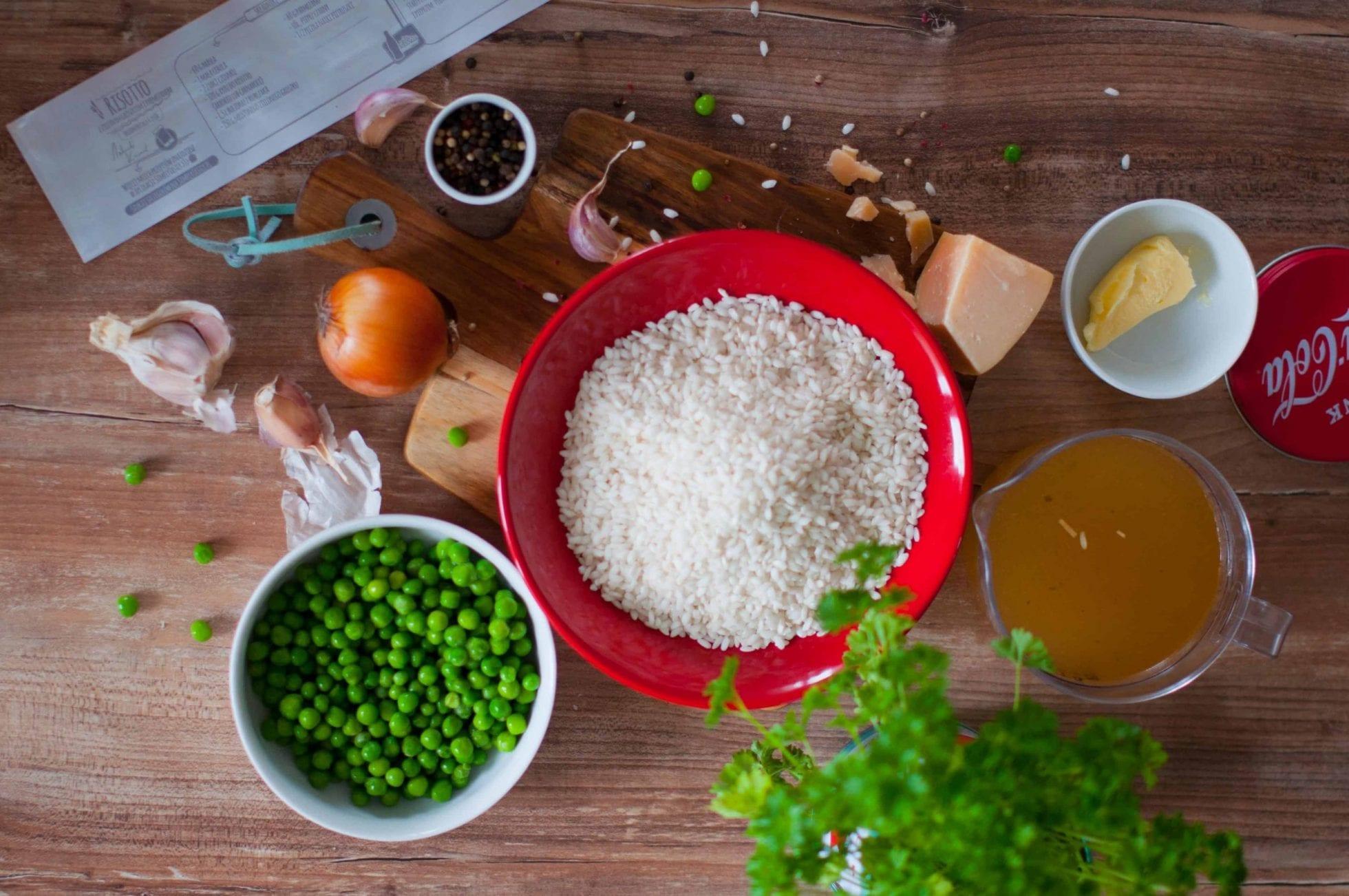 Risotto z zielonym groszkiem i parmezanem