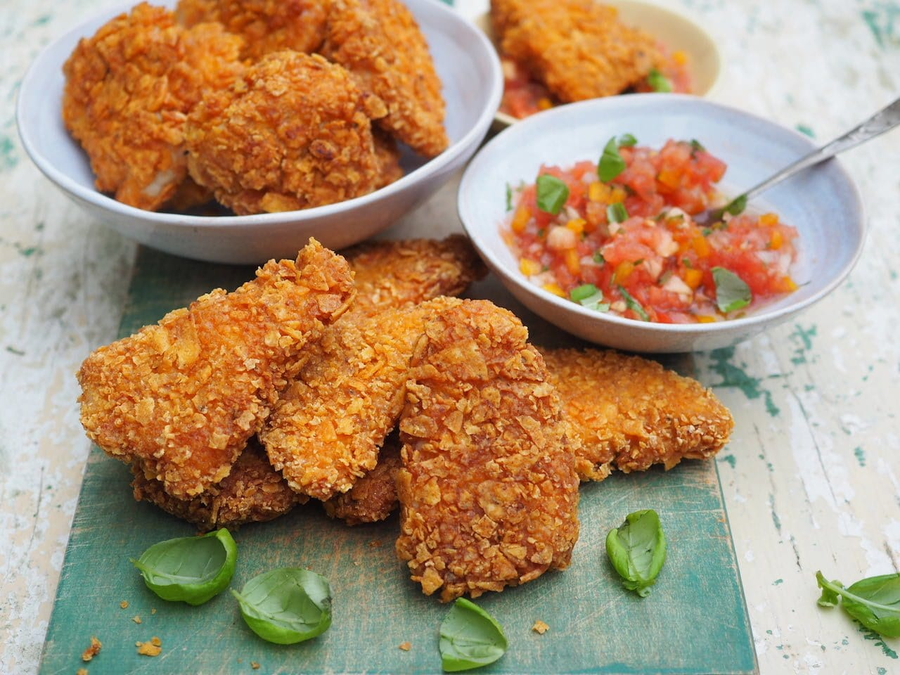 Nuggetsy panierowane w nachosach