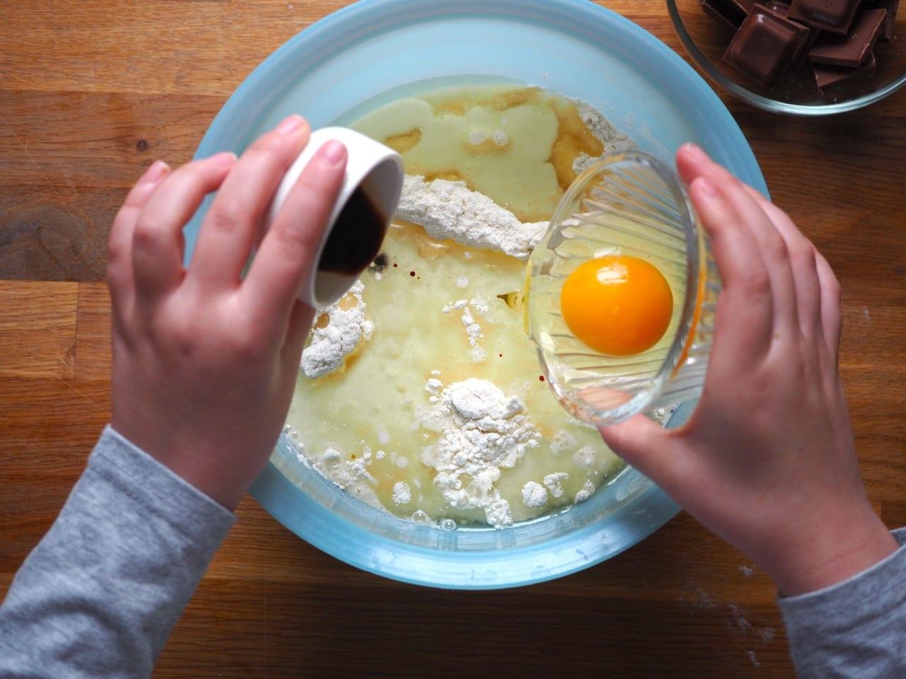 Dziecinnie proste muffinki z czekoladą