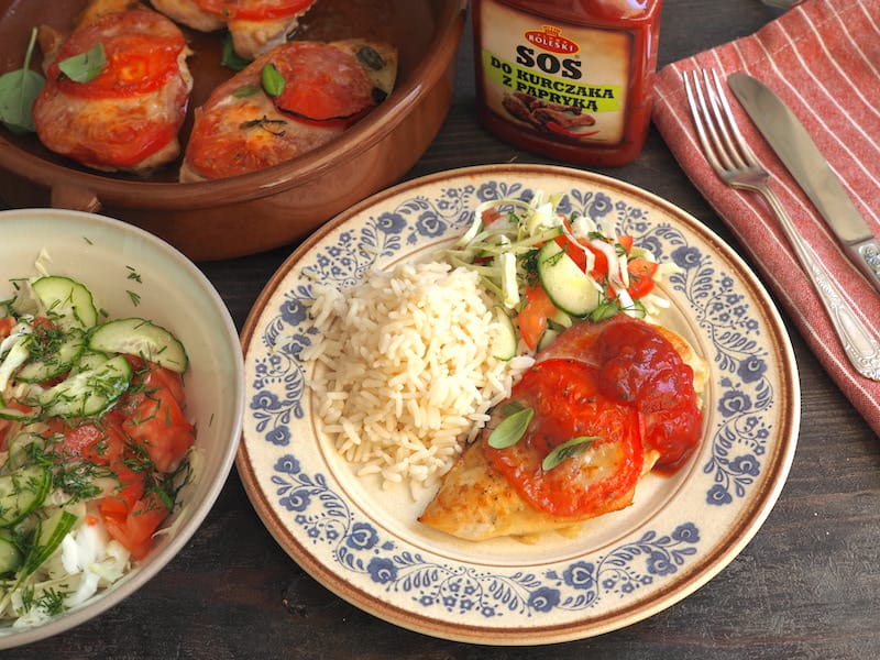 pomidor z mozarellą