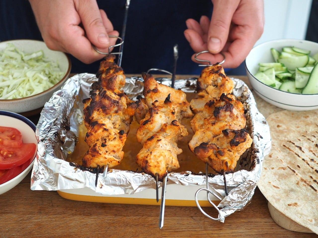 Pieczenie mięsa do kebaba