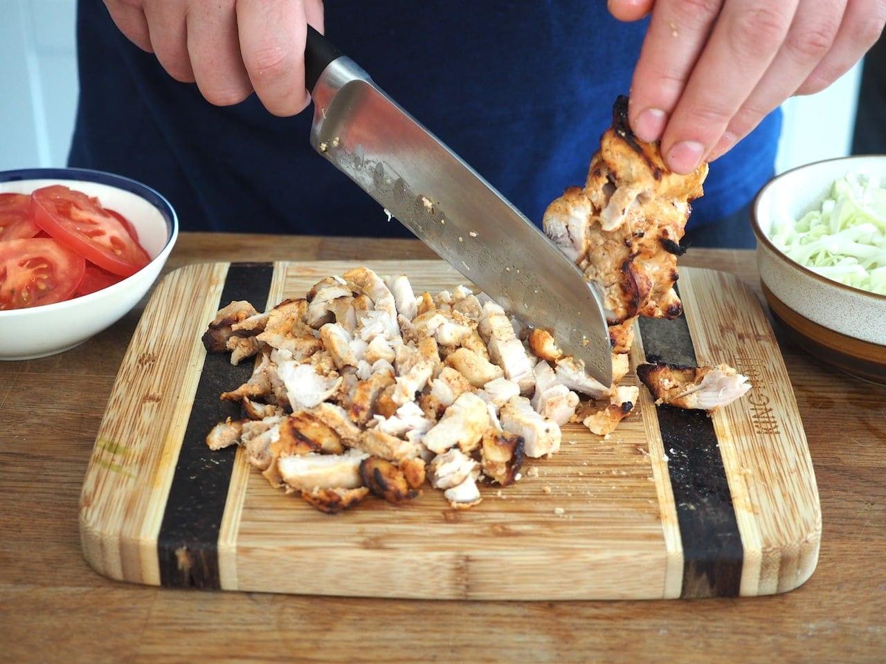 jak pokroić mięso do kebaba