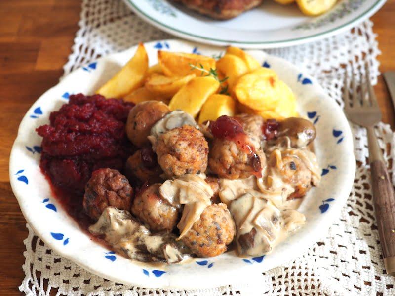 Pulpeciki z sosem grzybowym