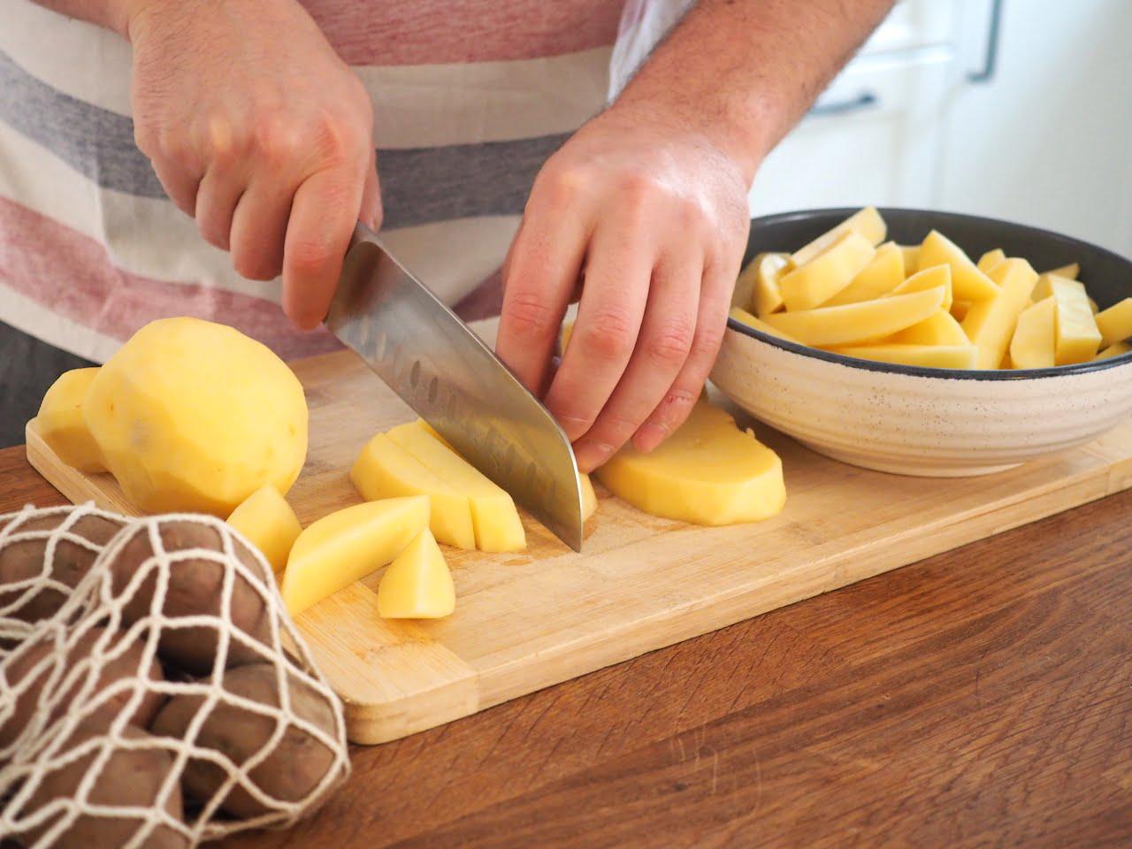 ziemniaki na belgijskie frytki