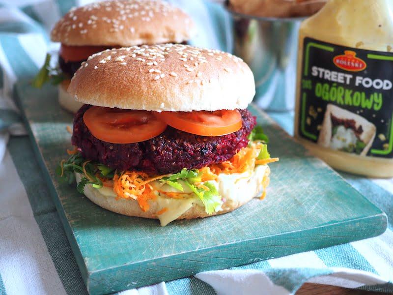 wegetariański burger główne