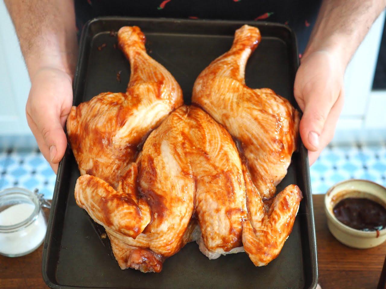 Kurczak pieczony na płasko
