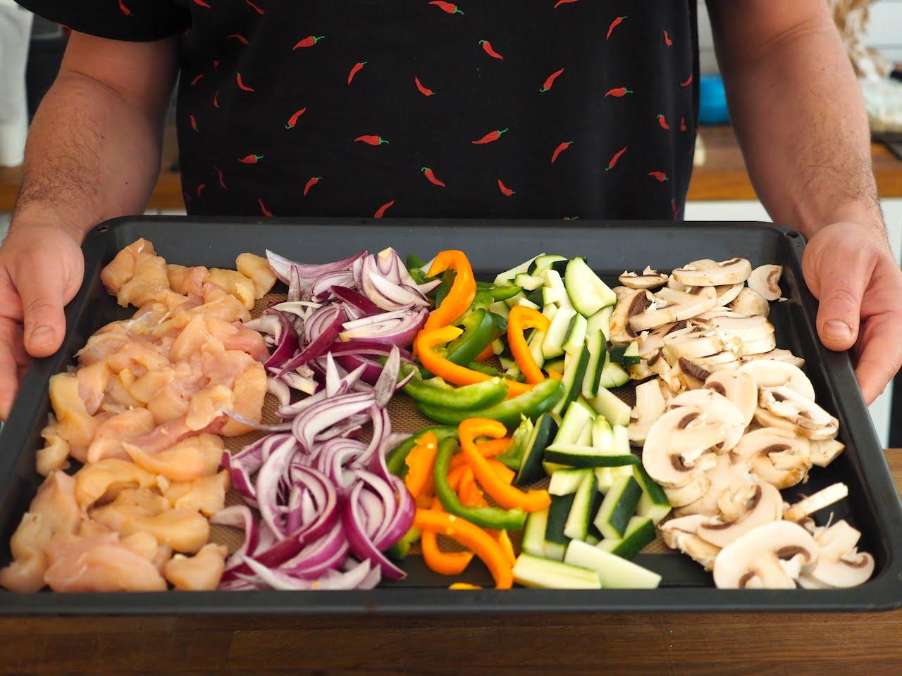 jak przygotować warzywa do tortilli
