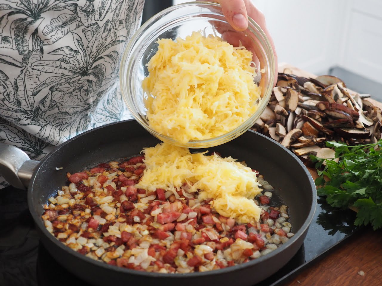 farsz do gołąbków z ziemniakami