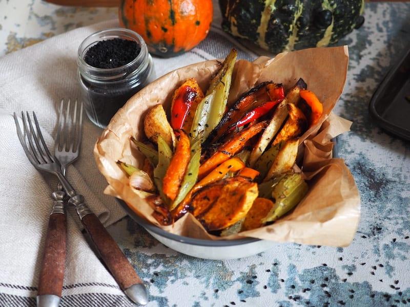 Pieczone jesienne warzywa