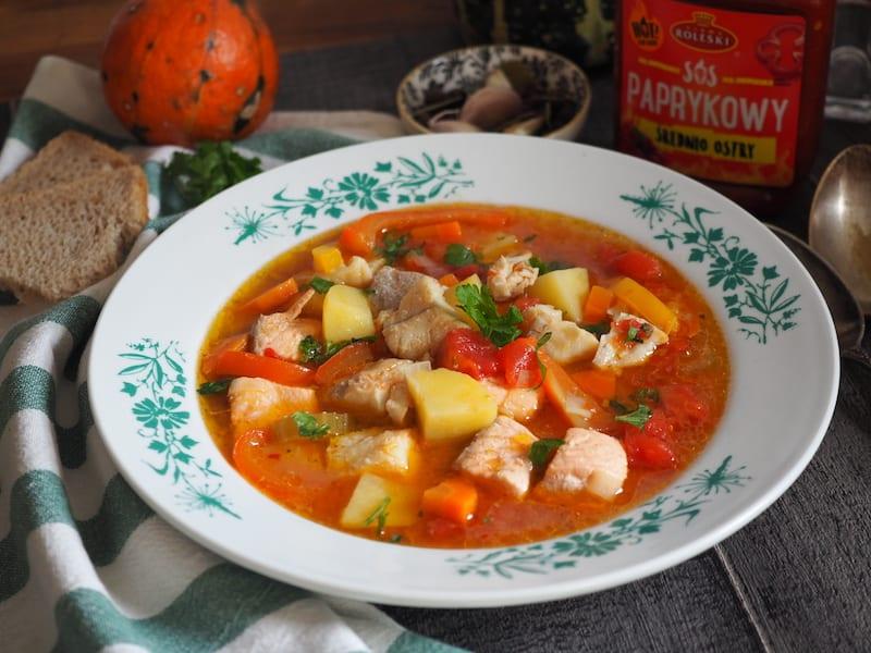 Paprykowa zupa rybna