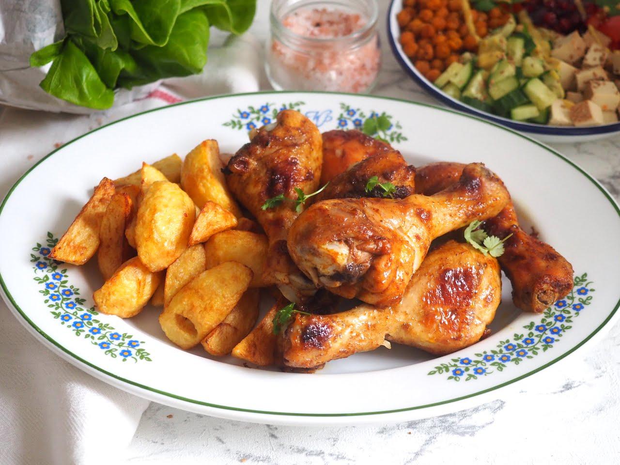 Pikantny pieczony kurczak z musztardą