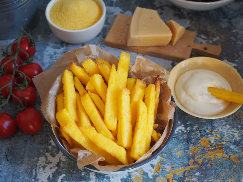 Pieczone frytki z polenty