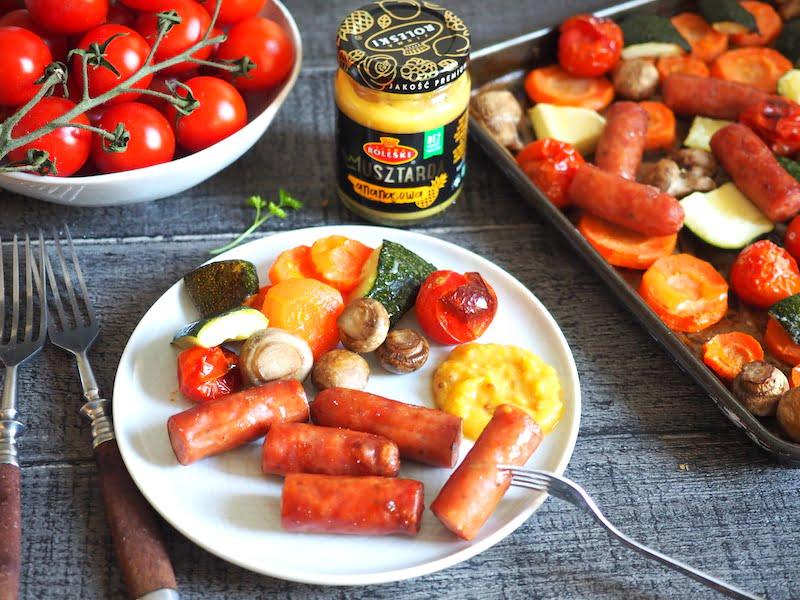 Frankfurterki zapiekane z warzywami